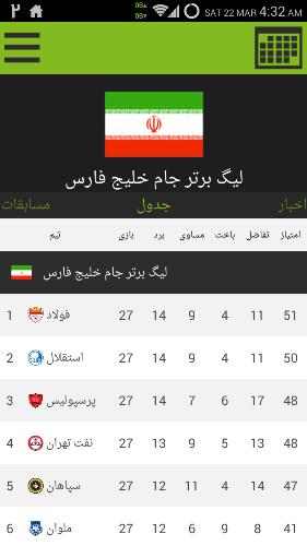 دانلود Yaazdah v2.5 اطلاع از نتایج و اخبار فوتبال داخلی و خارجی 3