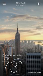 دانلود Yahoo Weather 1.6.2 پیش بینی وضع هوا 2