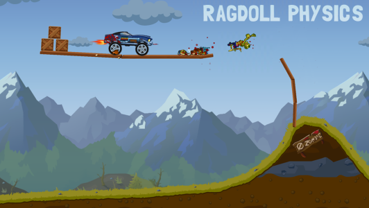 دانلود Zombie Road Trip Trials v1.1.1 کشتار زامبی ها در جاده