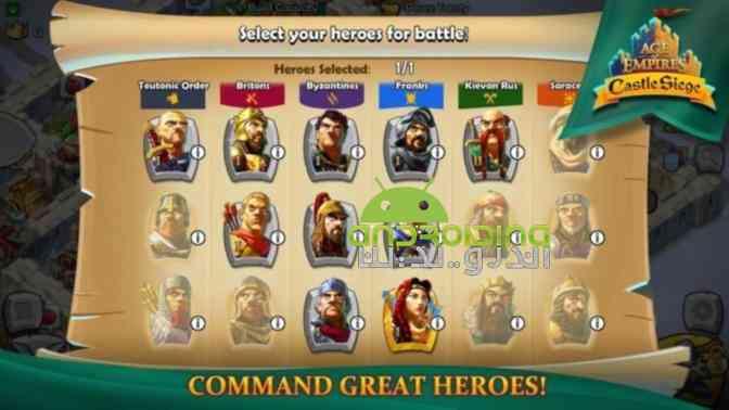 Age of Empires Castle Siege – دوران امپراطوری، محاصره قلعه اندروید