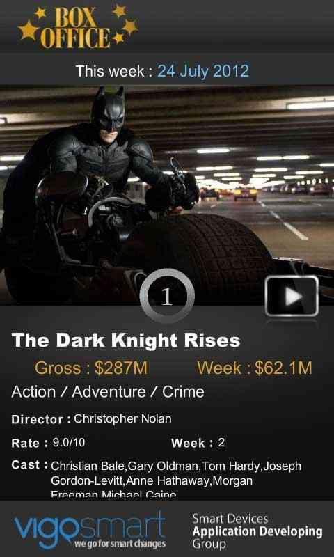 اطلاع از فیلم های روز دنیا با Box Office 2.0.1 1