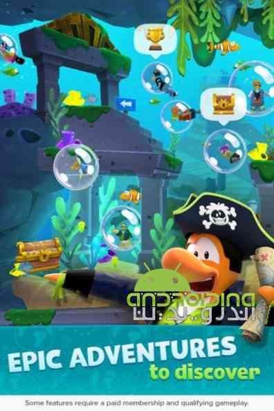 دانلود Club Penguin Island 1.6.1 بازی جزیره باشگاه پنگوئن ها اندروید + دیتا 3