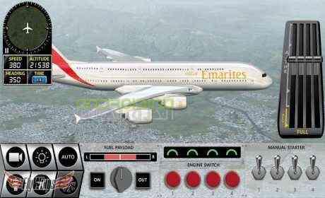 دانلود Flight Simulator X 2016 Air HD 1.4.0 بازی شبیه ساز پرواز 2016 اندروید + دیتا 3