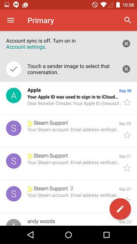 دانلود Gmail 7.9.10.169126262 اتصال و مدیریت جیمیل اندروید 3
