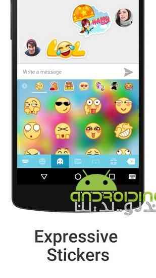 دانلود iKeyboard – emoji emoticons 4.8.2.743 کیبرد حرفه ای برای اندروید 1