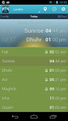 دانلود iPray: Prayer Times & Qibla 2.6.2 اوقات شرعی در اندروید 1