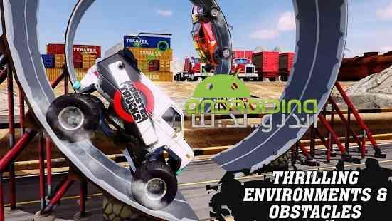 دانلود Monster Truck Racing 2.1.0 بازی مسابقات ماشین های هیولایی اندروید + دیتا 3