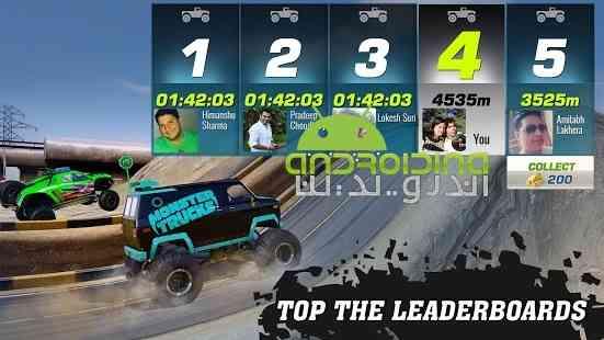 دانلود Monster Truck Racing 2.1.0 بازی مسابقات ماشین های هیولایی اندروید + دیتا 4