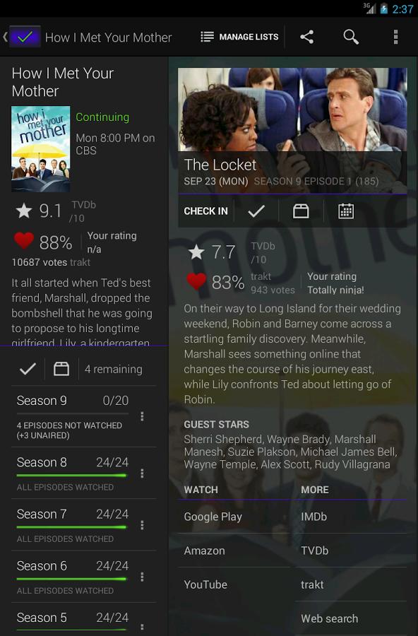 همه چیز درباره سریال های تلویزیونی با SeriesGuide v9 Premium 2